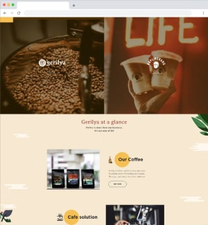 Gerilya Coffee Website