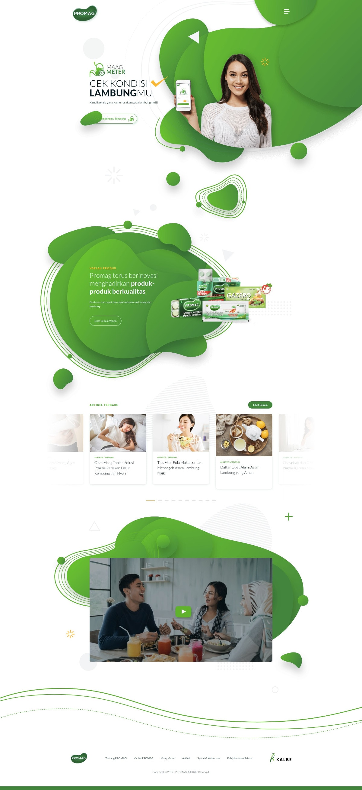 portfolio popout.id web development agency jakarta client Promag Website