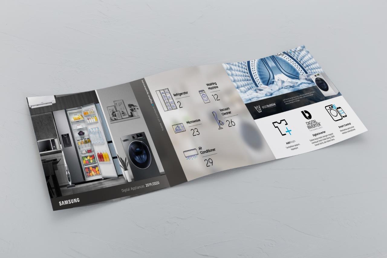 portfolio popout.id web development agency jakarta client Samsung Product Brochure