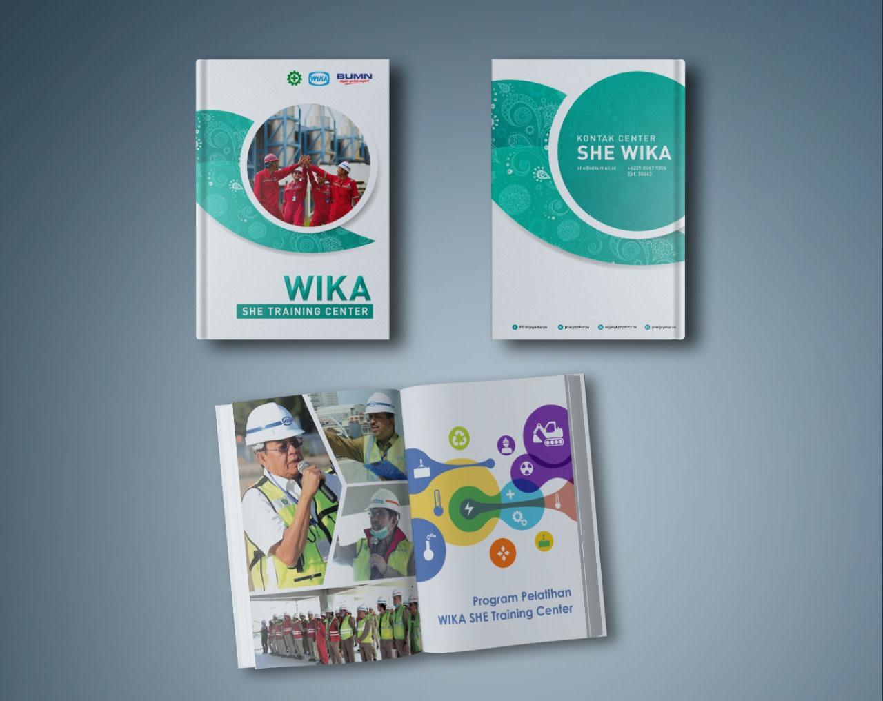 portfolio popout.id web development agency jakarta client WIKA SHE Training Center Handbook